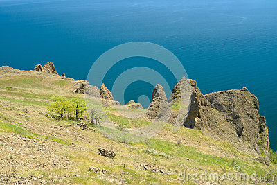 Virginal landscape in Karadag nature reserve