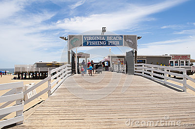 Virginia beach fishing pier editorial image image 41504605 for Va beach fishing pier