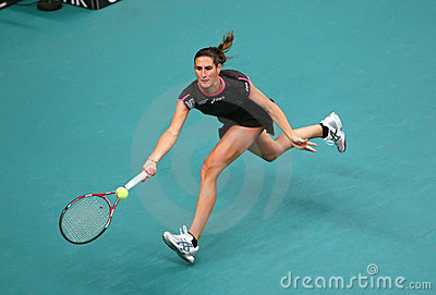 Virginie Razzano (FRA) at Open GDF Suez 2010 Editorial Photo