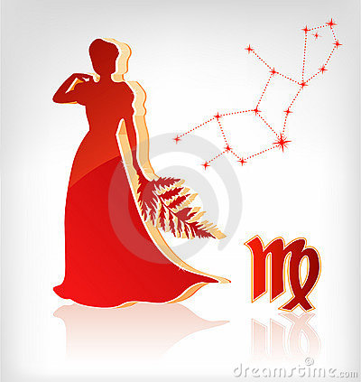 Virgo zodiac astrology icon for horoscope