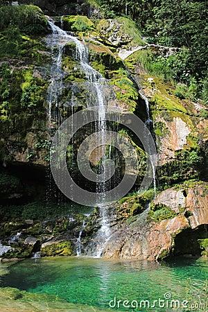 Free Virje Waterfall, Kanin Mountains, Slovenia Stock Image - 33237951