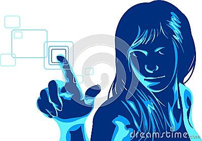 Virtual Hacker Girl