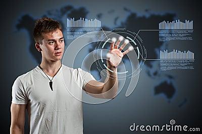 Virtual reality interface.