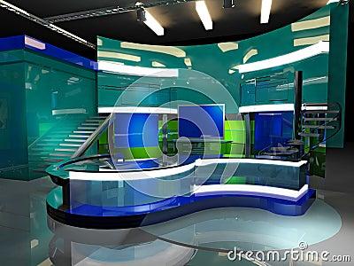 Virtual set news