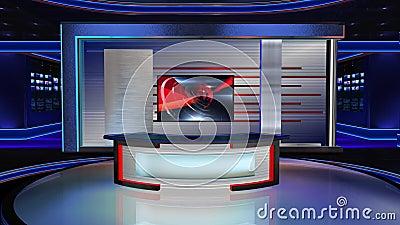 virtual set newsroom 2 long