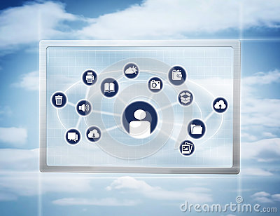 Virtual Touch Screen With Icons
