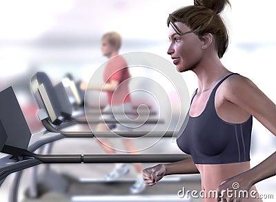Virtual Tresdmill Woman