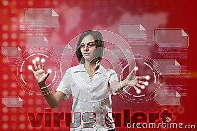 Virus alert concept