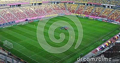 Visão geral do Estádio Nacional de Arena video estoque