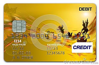 Visa Card Autumn / fall