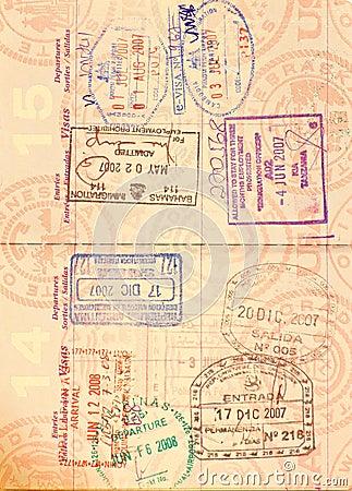Free Visa In US Passport Stock Photography - 12202352