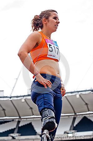 Visa London Disability Athletics Challenge Editorial Stock Photo