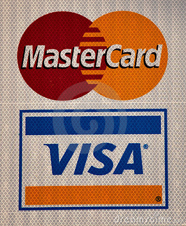 Visa and Master Card logo Editorial Photography