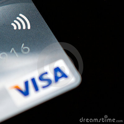 Visa Paywave credit card Editorial Image