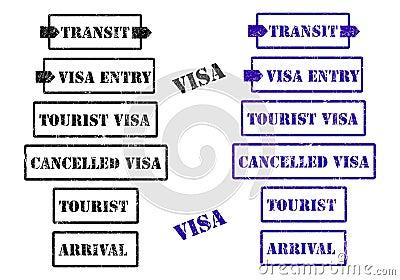Visa stamps - cdr format