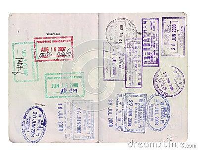 visa stamps on passport