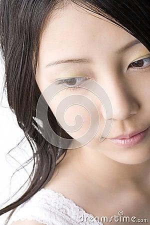 Visage de femme japonaise