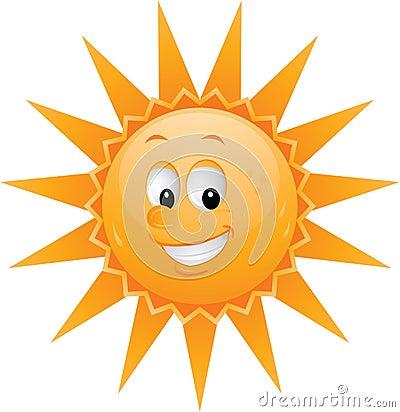 Visage du soleil de dessin anim photographie stock libre - Dessin du soleil ...