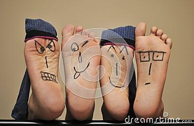 Visages de pied