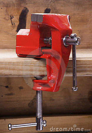 Vise on the workbench