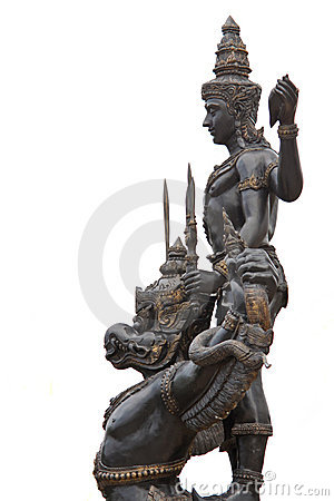Vishnu lord of hindu riding his garuda