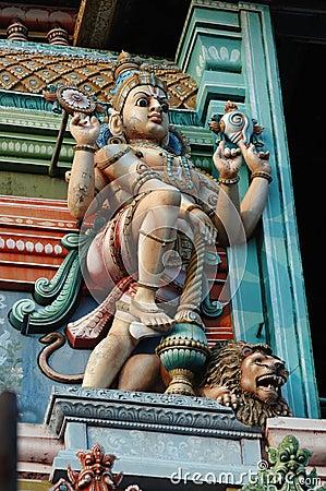 Free Vishnu - Supreme God Of Hinduism - Decoration Royalty Free Stock Photos - 14989258