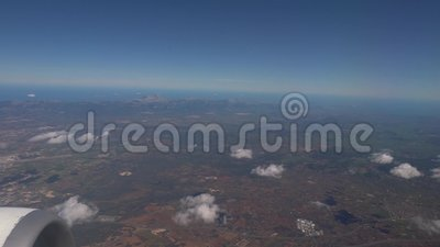 Visión aérea en Majorca de un avión almacen de video