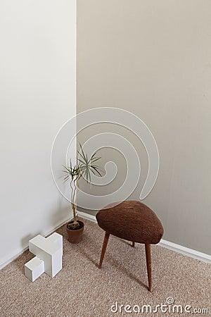 Esquina moderna del diseño interior del zen