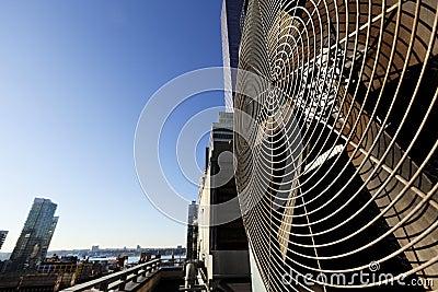 Unidad al aire libre Manhattan Nueva York de Contidioner del aire urbano de la HVAC