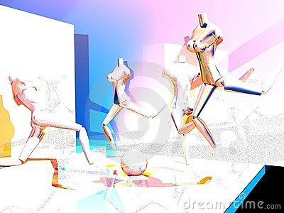 A Vision of Runner Mannequin