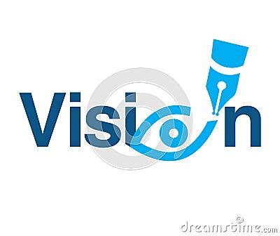 Vision Theme Logo Concept Vector Illustration