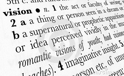 Vision word dictionary term