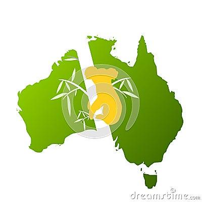 Visit australia design with koala
