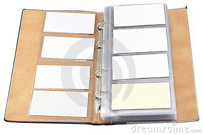 Visit card s organizer