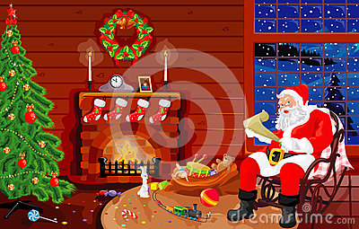 On a visit at Santa