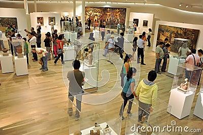 Visita ao museu Imagem Editorial