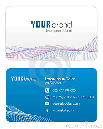 Visitenkarte | Blau