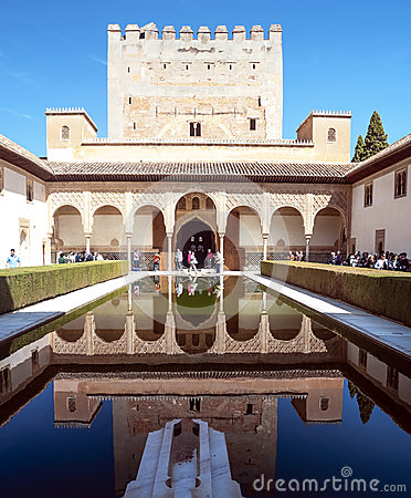 Visiting the Alhambra Editorial Image