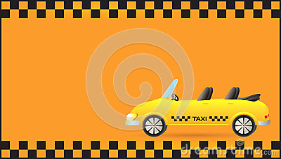 Visiting card with taxi car cabriolet