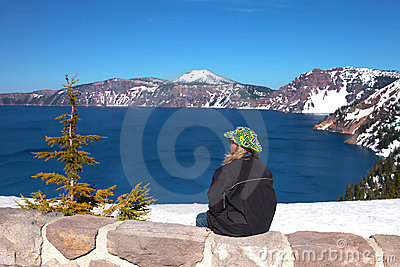 Visiting Crater Lake national park, Oregon.