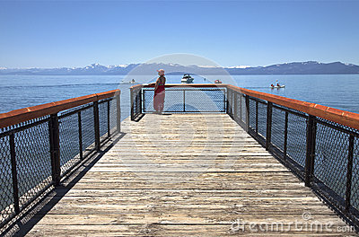 Visiting Lake Tahoe, California.