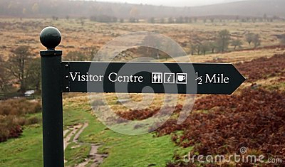 Visitor Centre Sign Post