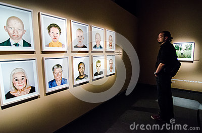 Visitor at Fotografiska- photography exhibition Editorial Image