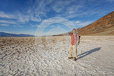 Visitor inthe Death Valley