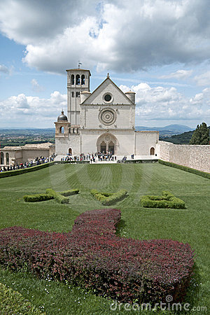 Visitors, Basilica of Saint Francis, Assisi, Italy Editorial Stock Photo