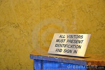 Visitors must show security identification