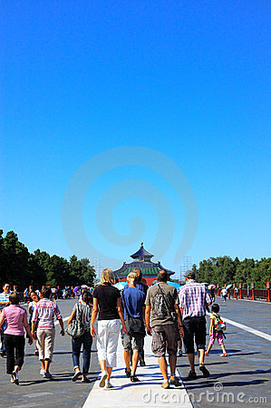 Visitors to the Temple of Heaven Editorial Stock Image