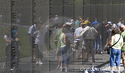 Visitors at the Vietnam War Veterans Memorial Editorial Stock Photo