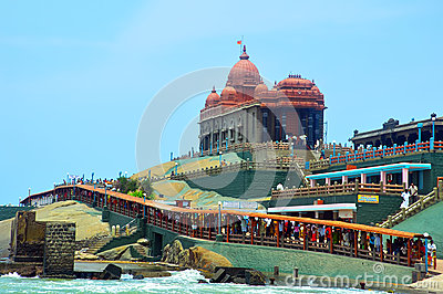 Kanyakumari vivekananda rock memorial Editorial Stock Image