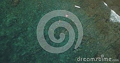 Vista aérea de embarcações a motor filme
